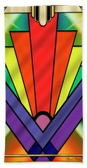 Beach Towel featuring the digital art Art Deco Chevron 1 V - Chuck Staley by Chuck Staley