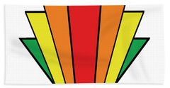 Art Deco Chevron - Chuck Staley Beach Towel by Chuck Staley