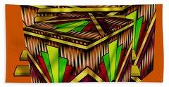 Art Deco Cubes 2 - Transparent Beach Towel