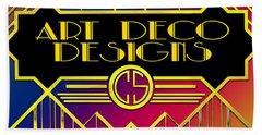 Art Deco Designs Beach Sheet