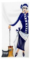 Art Deco  Diane 1920's Beach Towel