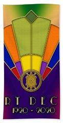 Art Deco Fan 6 Titled Beach Sheet