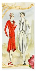 Art Deco Fashion Girls Beach Towel