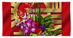 Art Deco Floral - Chuck Staley Beach Sheet by Chuck Staley
