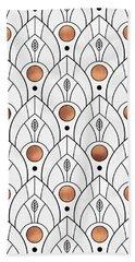 Art Deco Leaves 1 Beach Towel