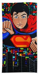Art Deco  Superman Beach Towel