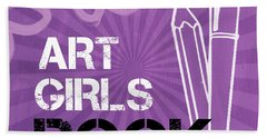 Art Girls Rock Beach Towel