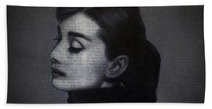 Art In The News 98-audrey Hepburn Beach Towel