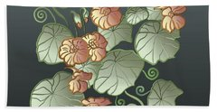 Art Nouveau Garden Beach Sheet