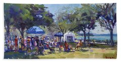 Art On The Riverwalk At Niawanda Park Beach Towel