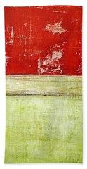 Art Print Rotgelb Beach Towel