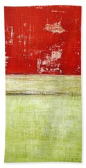 Art Print Rotgelb Beach Towel