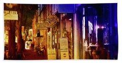 Art Row - Fredericksburg, Virginia Beach Sheet by Glenn Gemmell