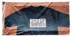 Art Shirt Beach Sheet
