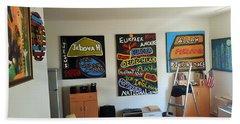 Art Studio Rear View Beach Sheet