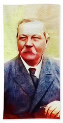 Arthur Conan Doyle, Literary Legend Beach Towel