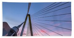 Arthur Ravenel Jr. Bridge Light Trails Beach Sheet