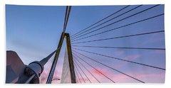 Arthur Ravenel Jr. Bridge Light Trails Beach Towel