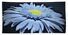 Artic Blue Gerber Daisy Beach Towel