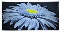 Artic Blue Gerber Daisy Beach Sheet