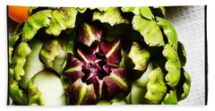 Artichoke Circle Beach Towel