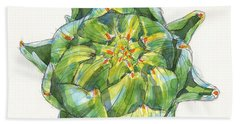 Artichoke Star Beach Towel