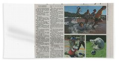 Article On Action Photography Beach Towel