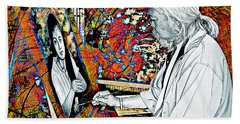 Artist In Abstract Beach Towel by Ian Gledhill