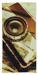 Artistic Double Exposure Of A Vintage Photo Tour Beach Towel
