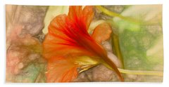Artistic Red And Orange Beach Towel