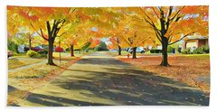 Beach Towel featuring the photograph Artistic Tulsa Street by Robert Knight