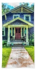 Arts And Crafts Home Deerfield Ma Watercolor Beach Towel