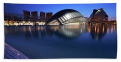 Arts And Science Museum Valencia Beach Towel by Graham Hawcroft pixsellpix