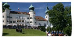 Beach Towel featuring the photograph Artstetten Castle In June by Travel Pics