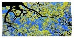 Artsy Tree Canopy Series, Early Spring - # 03 Beach Sheet