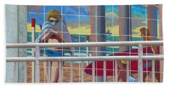 Artwork On The Boardwalk - Huntington Beach Beach Towel