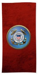 U. S. Coast Guard - U S C G Emblem Beach Towel