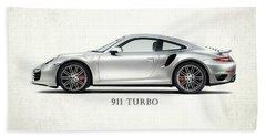 Porsche 911 Turbo Beach Towel