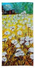 Cotton Fields Back Home Beach Sheet by Eloise Schneider