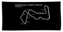 Marina Bay Circuit Beach Towel