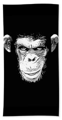 Evil Monkey Beach Towel by Nicklas Gustafsson