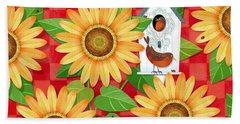 Sunflower Surprise Beach Sheet