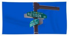 Broad And Pattison Where Philly Sports Happen Beach Towel