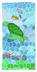 Turtle And Friends Beach Sheet by Methune Hively
