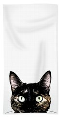 Peeking Cat Beach Towel