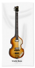 Hofner Violin Bass 62 Beach Towel by Mark Rogan