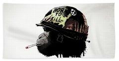 Born To Kill Beach Sheet by Nicklas Gustafsson
