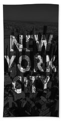 New York City - Black Beach Towel