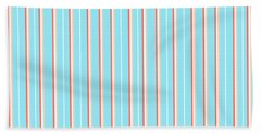 Blue Stripe Pattern Beach Towel