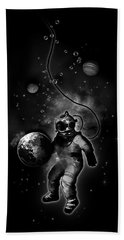 Deep Sea Space Diver Beach Towel by Nicklas Gustafsson